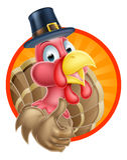 Cartoon Thanksgiving Turkey Royalty Free Stock Image