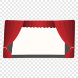 Cartoon theater stage Royalty Free Stock Photos
