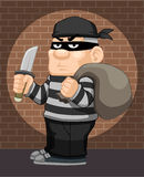 Cartoon thief  Stock Photo