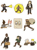 Cartoon thief icon Royalty Free Stock Photos