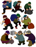Cartoon thief icon Royalty Free Stock Images