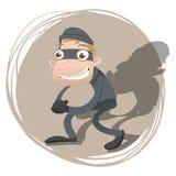 Cartoon thief Stock Image