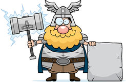 Cartoon Thor Sign Stock Images