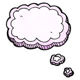 cartoon thought cloud Royalty Free Stock Photo