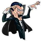 Cartoon threatening vampire. Isolated on white Stock Images