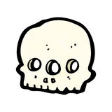 Cartoon three eyed alien skull Stock Photography