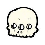 cartoon three eyed alien skull Stock Photography