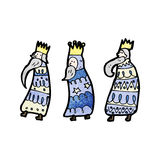 Cartoon three kings Royalty Free Stock Photography