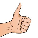 Cartoon thumbs up Royalty Free Stock Photo