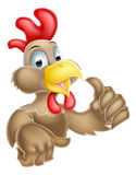 Cartoon Thumbs Up Chicken. A cartoon chicken mascot giving a thumbs up Royalty Free Stock Image