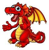 Cartoon Thumbs Up Dragon royalty free illustration