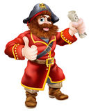 Cartoon thumbs up pirate Royalty Free Stock Photography
