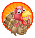 Cartoon Thumbs Up Turkey Royalty Free Stock Photos