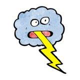 Cartoon thunder cloud Royalty Free Stock Images