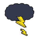 Cartoon thundercloud Stock Images