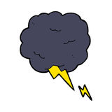 Cartoon thundercloud symbol Royalty Free Stock Images