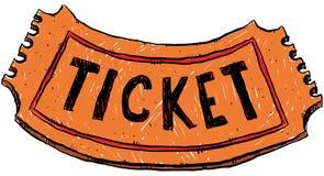 Cartoon Ticket Royalty Free Stock Photo