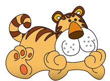 cartoon tiger Royalty Free Stock Images