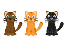 Cartoon tiger cats, vector Stock Photos