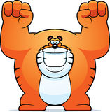 Cartoon Tiger Celebrating Stock Images