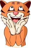 Cartoon tiger cheer Stock Photography