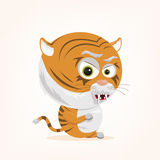 Cartoon Tiger. Cartoon of a cute tiger Stock Photos
