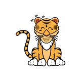 Cartoon of a tiger with different expression - Vector. Illustration of tiger behavior expression vector illustration