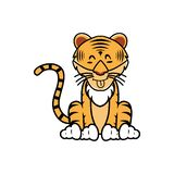 Cartoon of a tiger with different expression - Vector. Illustration of tiger behavior expression royalty free illustration