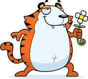 Cartoon Tiger Flower Stock Image