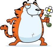 Cartoon Tiger Flower Stock Image