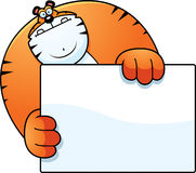 Cartoon Tiger Hiding Royalty Free Stock Photos