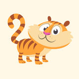 Cartoon tiger icon. Flat Bright Color Simplified Vector Illustration Stock Images
