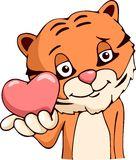 Cartoon tiger love Stock Images