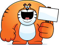 Cartoon Tiger Sign Stock Photos