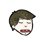 Cartoon tired boy's face Royalty Free Stock Photo