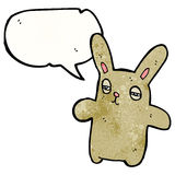 cartoon tired bunny rabbit Royalty Free Stock Image