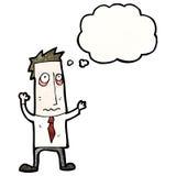 Cartoon tired businessman Stock Photos