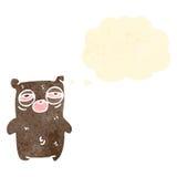 cartoon tired little bear Stock Photography