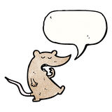 Cartoon tired mouse with speech bubble Royalty Free Stock Photography