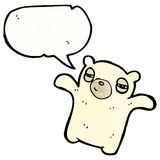 Cartoon tired polar bear Stock Photos
