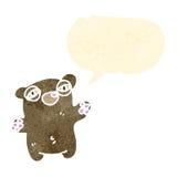 cartoon tired teddy bear Stock Photo