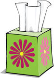Cartoon tissue box. A cartoon of a tissue box, great for a get well card or school supply list stock illustration