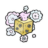 Cartoon tissue box Stock Photo