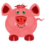 Cartoon to pigs Stock Images