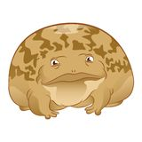 Cartoon Toad. Vector image of a cartoon brown Toad Royalty Free Stock Photo