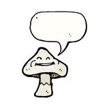 Cartoon toadstool with speech bubble Stock Photography