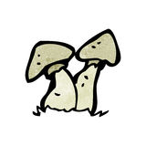 Cartoon toadstools Stock Photo