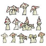 cartoon toadstools collection Stock Photos