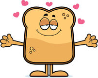 Cartoon Toast Hug Royalty Free Stock Photo