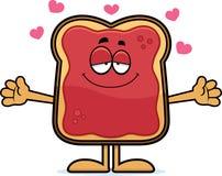 Cartoon Toast With Jam Hug Royalty Free Stock Photography